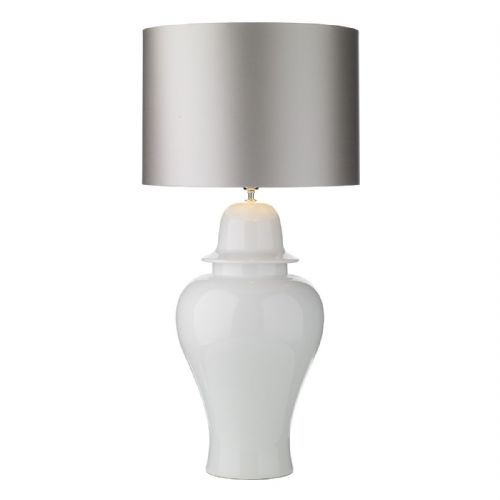 Vaughn Table Lamp Large Gloss White Base Only VAU4302 (7-10 day Delivery)